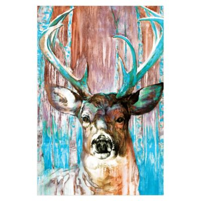 Pied Piper Creative Beautiful Buck 32-Inch x 48-Inch Canvas Wall Art