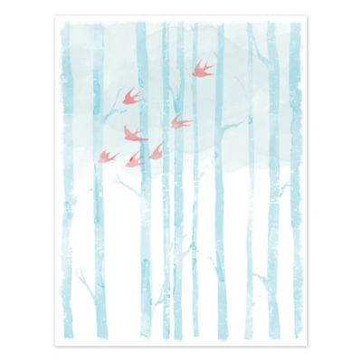 Pied Piper Creative Tranquil Trees 16-Inch x 20-Inch Canvas Wall Art