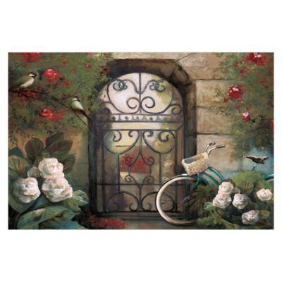 Pied Piper Creative Garden Gate 36-Inch x 24-Inch Canvas Wall Art