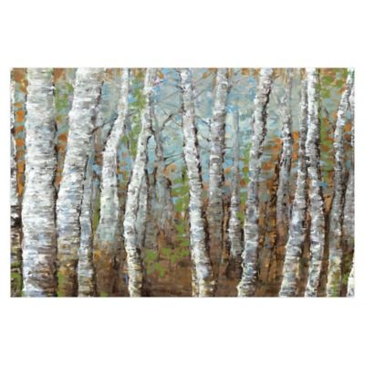Pied Piper Creative Painted Birches 48-Inch x 32-Inch Canvas Wall Art
