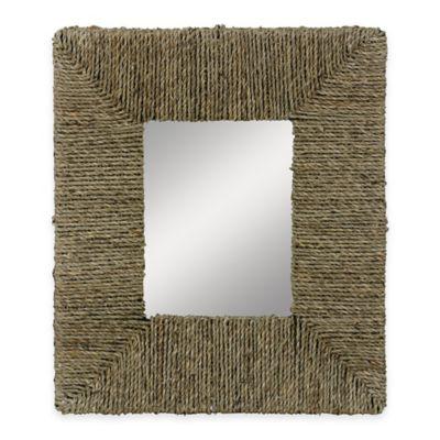 Stylecraft Home Collection Natural Woven Sea Grass Decorative Mirror