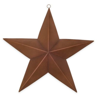 Metal Star Plaque in Rust