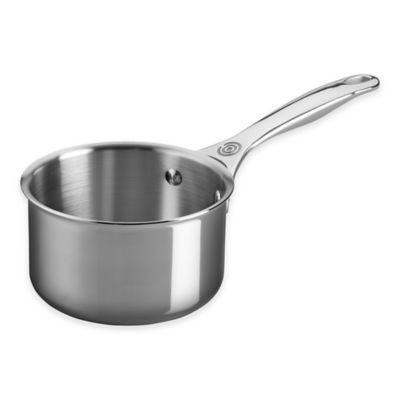 Le Creuset® Tri-Ply Stainless Steel 1.3 qt. Open Saucepan