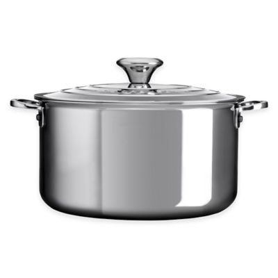 Le Creuset® Tri-Ply Stainless Steel 6.3 qt. Covered Stockpot