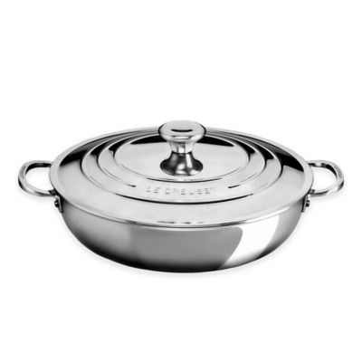 Le Creuset® Tri-Ply Stainless Steel 5 qt. Covered Braiser