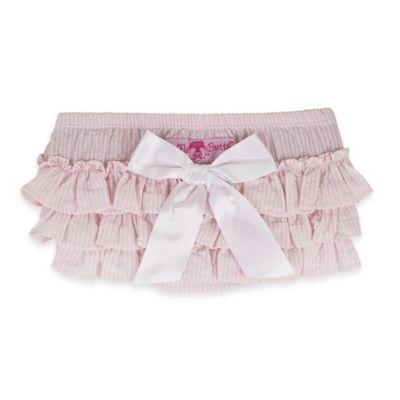 RuffleButts® Size 0-3M Seersucker Bloomer in Pink