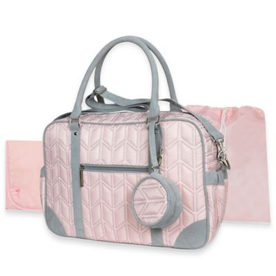 Wendy Bellissimo™ Quilted Duffle Style Diaper Bag in Pink
