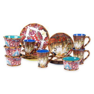 Tracy Porter® Poetic Wanderlust® Imperial Bengal 16-Piece Dinnerware Set