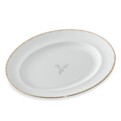 Vera Wang Wedgwood® Gilded Leaf 13 3/4-Inch Oval Platter