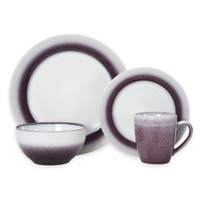 16-Piece Dinnerware Set in Plum