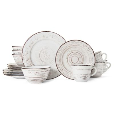 Pfaltzgraff® Trellis White 16-Piece Dinnerware Set