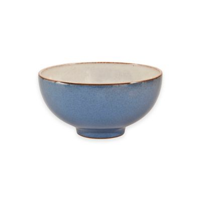 Denby Heritage Fountain Rice Bowl in Blue