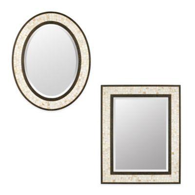 Quoizel 24-Inch x 30-Inch Rectangular Monterey Mosaic Mirror