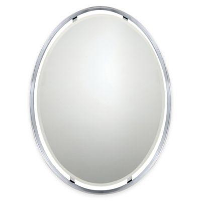 Quoizel 26-Inch x 34-Inch Rectangular Uptown Ritz Mirror