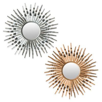 Safavieh 37-Inch Sun Mirror in Goldtone