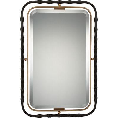 Quoizel Maxim 25-Inch x 37.5-Inch Rectangular Mirror in Western Bronze