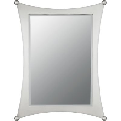 Quoizel Jasper Small Rectangular Mirror in Silver