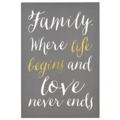 "Enchante Accessories ""Family Begins"" Wall Art Box"