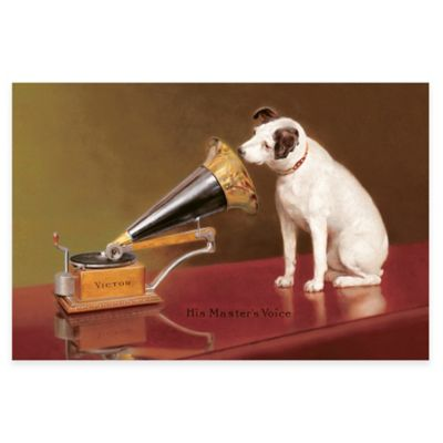 Barraud His Master's Voice Ad Canvas Wall Art
