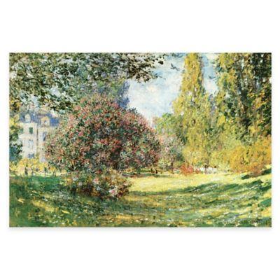 Monet Parc Monceau Paris Canvas Wall Art