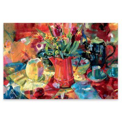 Peter Graham Pitcher of Flowers Canvas Wall Art