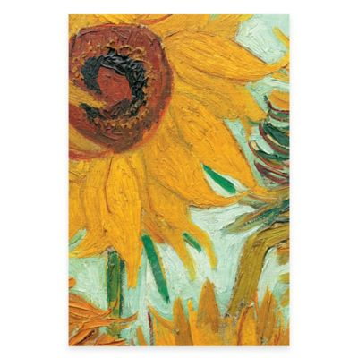 Vincent Van Gogh vase with 12 Sunflowers Detail Wall Art
