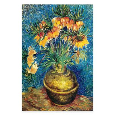 Vincent Van Gogh Vase with Flowers Canvas Wall Art
