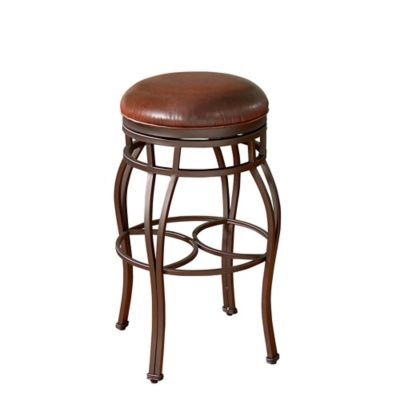 American Heritage Bella Backless Swivel Barstool in Bourbon