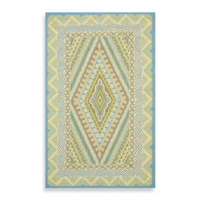 Safavieh Four Seasons Southwest Indoor/Outdoor 8-Foot x 10-Foot Area Rug in Ivory/Grey