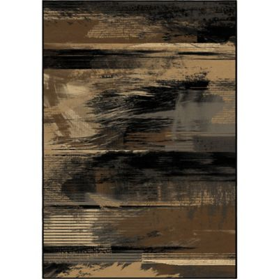 Orian Galaxy Artistic Smear 5-Foot 3-Inch x 7-Foot 6-Inch Area Rug in Black