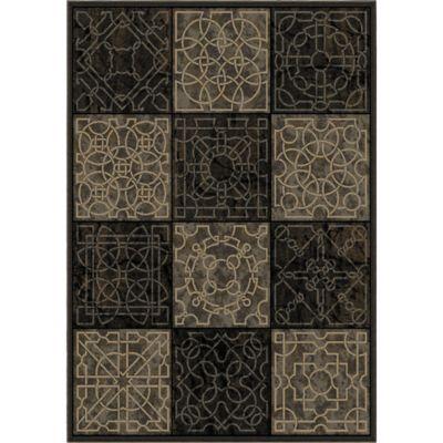Aria Rugs Galaxy Dark Domino 7-Foot 10-Inch x 10-Foot 10-Inch Area Rug in Black