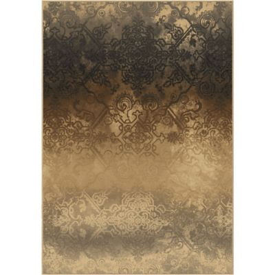 Orian Galaxy Faded Metal 5-Foot 3-Inch x 7-Foot 6-Inch Area Rug in Pewter