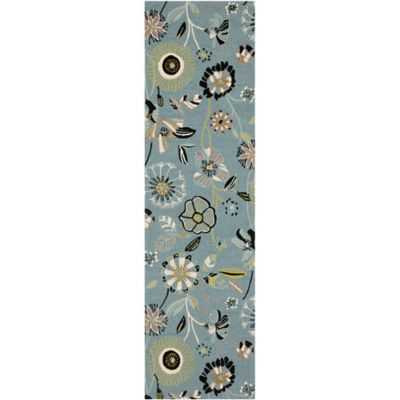 Safavieh Four Seasons 2-Foot 6-Inch x 4-Foot Indoor/Outdoor Accent Rug in Blue Multi