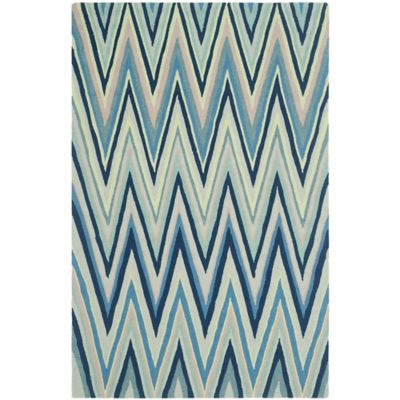 Safavieh Four Seasons Chevron 2-Foot 3-Inch x 8-Foot Runner in Navy Multi