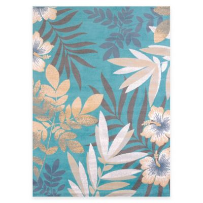 United Weavers Sea Garden Multicolor 5-Foot 3-Inch x 7-Foot 2-Inch Indoor/Outdoor Area Rug