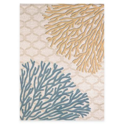 United Weavers Coral Reef 5-Foot 3-Inch x 7-Foot 2-Inch Area Rug in Harvest