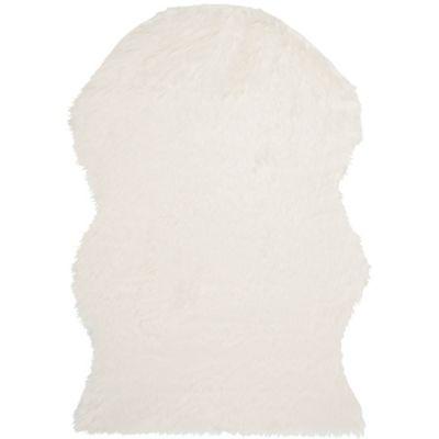 Safavieh Faux Sheep Skin Hide 4-Foot x 6-Foot Area Rug in Ivory