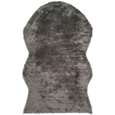 Safavieh Faux Sheep Skin Hide 6-foot x 9-Foot Area Rug in Grey