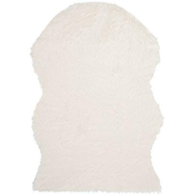 Safavieh Faux Sheep Skin Hide 6-Foot x 9-Foot Area Rug in Ivory