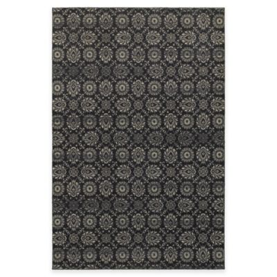 Oriental Weavers Richmond 12-Foot x 15-Foot Floral Damask Area Rug in Navy