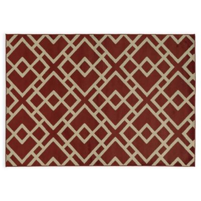 Oriental Weavers ELLA Geometric Diamonds 3-Foot 3-Inch x 5-Foot 5-Inch Accent Rug in Red