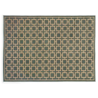 Oriental Weavers ELLA Squares 3-Foot 3-Inch x 5-Foot 5-Inch Accent Rug in Blue