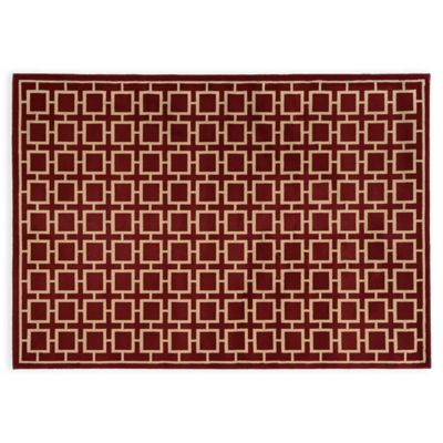 Oriental Weavers ELLA Squares 3-Foot 3-Inch x 5-Foot 5-Inch Accent Rug in Red