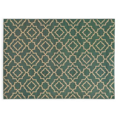 Oriental Weavers ELLA Diamond Trellis 3-Foot 3-Inch x 5-Foot 5-Inch Accent Rug in Green
