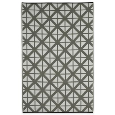 Fab Habitat Manchester Geometric 3-Foot x 5-Foot Area Rug in Paloma & White