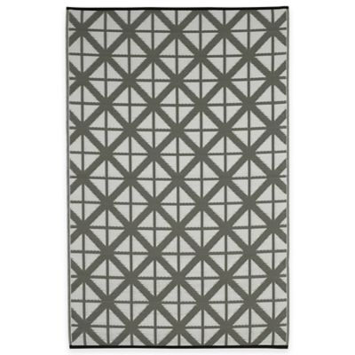 Fab Habitat Manchester Geometric 4-Foot x 6-Foot Area Rug in Paloma & White