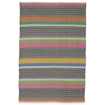 Fab Habitat Maya Chevron Strip 4-Foot x 6-Foot Multicolor Area Rug