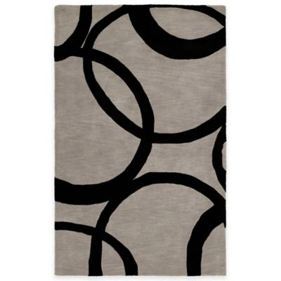 Kaleen Astronomy Gamma 7-Foot 6-Inch x 9-Foot Area Rug in Graphite