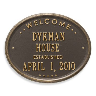 Personalize a Plaque