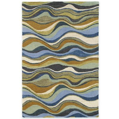 Kaleen Casual Alder 8-Foot x 11-Foot Area Rug in Blue